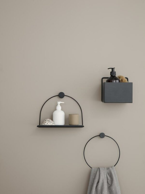 Towel hanger black (Ferm living)