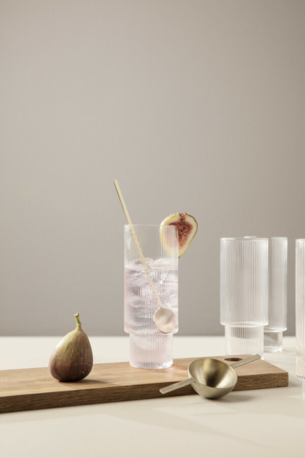 ripple long glasses (set of 4) (Ferm Living)