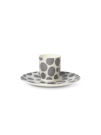 Safari bamboo dinner set giraffe (Ferm living)