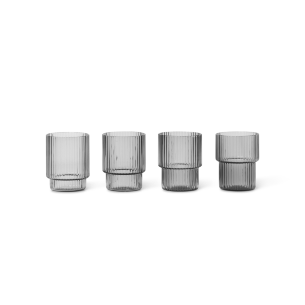 ripple glass (set of 4) (Ferm Living)