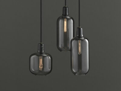 Amp Lamp smoked / black (Normann Copenhagen)