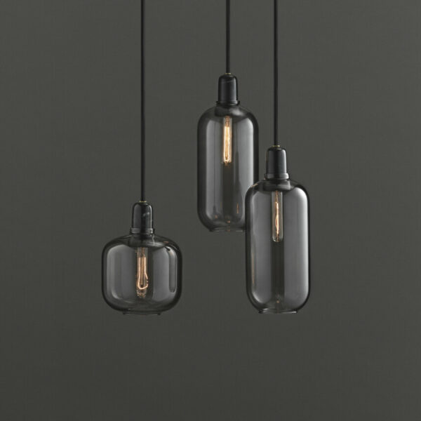 Amp Lamp smoked / black (Normann Copenhagen)