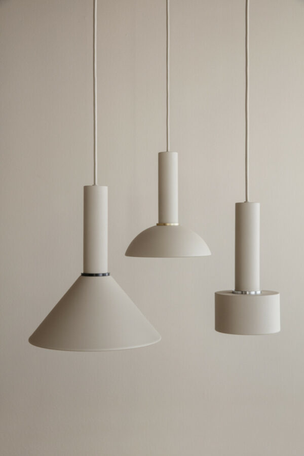 cashmere collect lighting, cone, hoop, disc (Ferm Living)