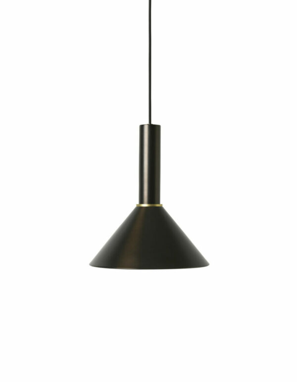 cone shade zwart messing - Collect Lighting (Ferm Living)