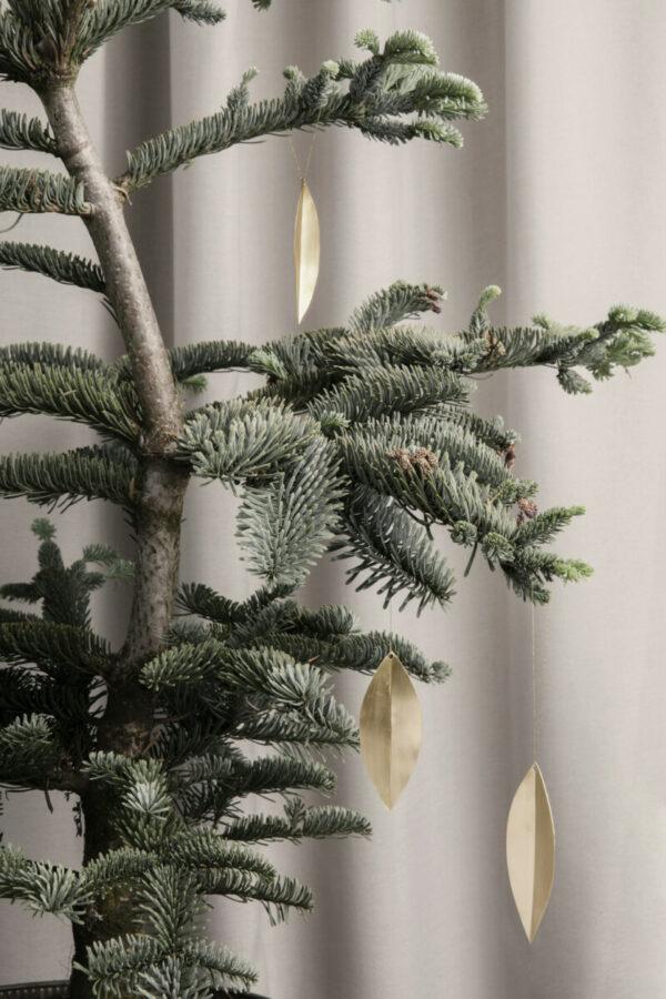 Kerstdecoratie Messing Blad (Ferm Living)
