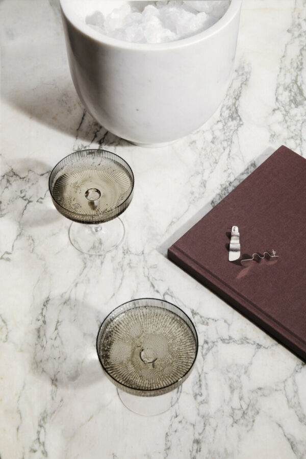 Ripple champagneglas smoked (ferm Living)