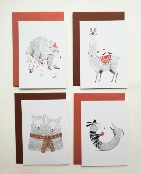 Set Ansichtkaarten 1 (Winterkaarten)
