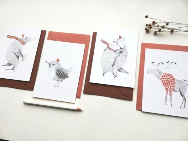 set ansichtkaarten (Aline tekents)