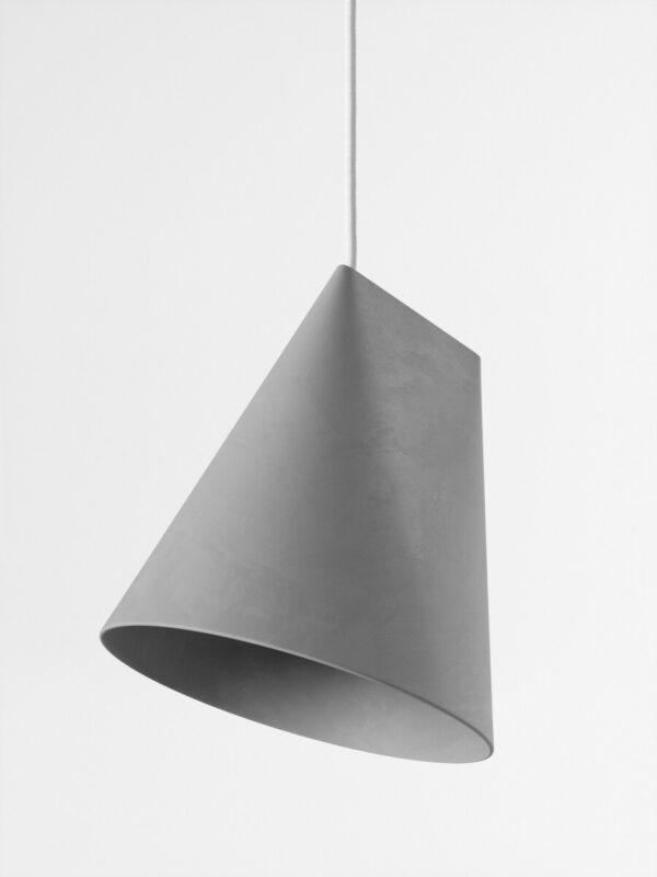 hanglamp ceramic pendant grijs wide (Moebe)