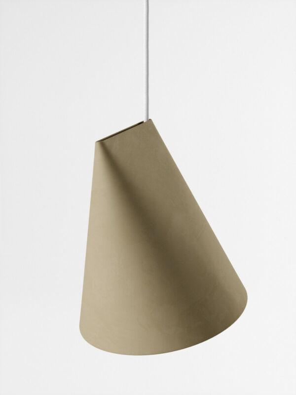 hanglamp ceramic pendant olive wide (Moebe)