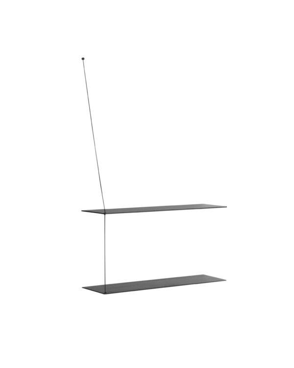 Stedge shelf zwart 80cm (WOUD)