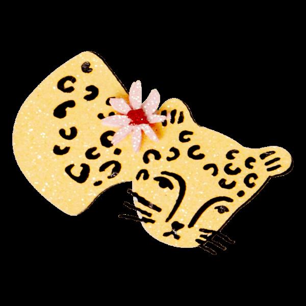 Glitter Haarspeld/Broche (Rice)